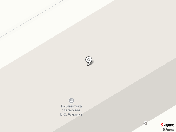 Курская библиотека слепых им. В.С. Алехина на карте Курска