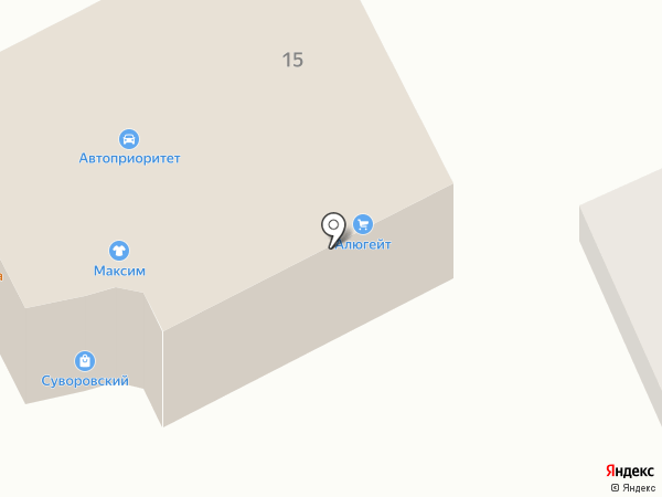 Алюгейт на карте Курска