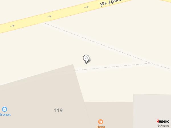 Магазин тканей и швейной фурнитуры на карте Курска
