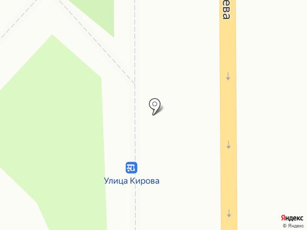 Киоск фастфудной продукции на карте Курска