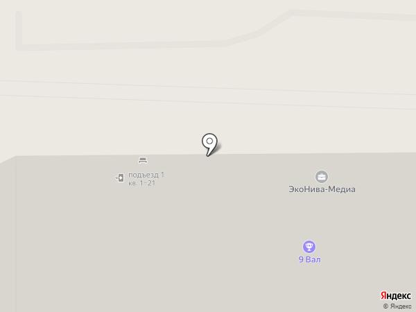 Радэна на карте Курска