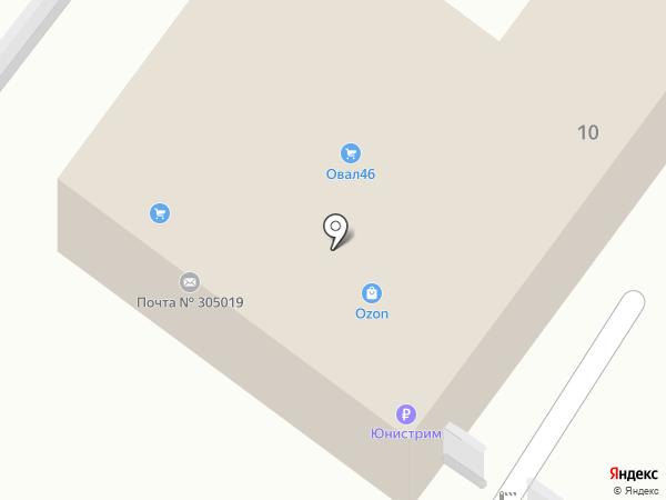 Почтовое отделение №19 на карте Курска