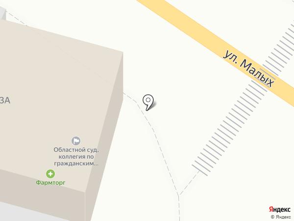 Курский областной суд на карте Курска