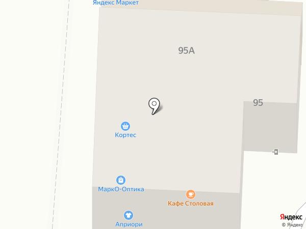 Кортес на карте Курска