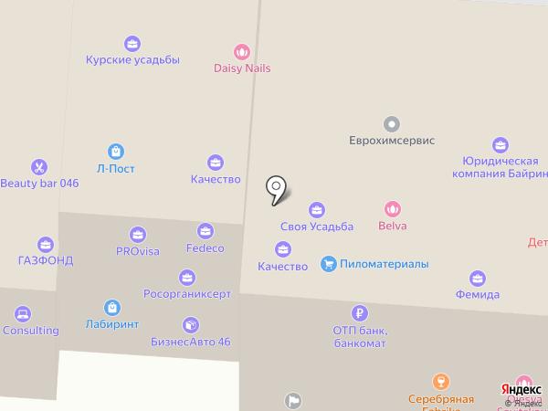 Шарфик на карте Курска