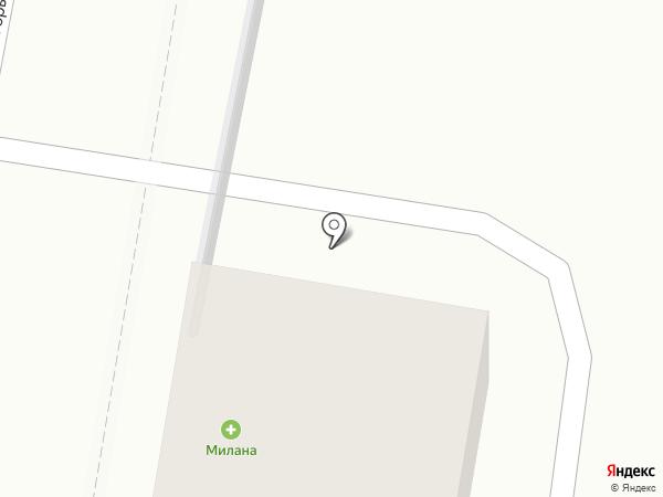 Милана на карте Курска