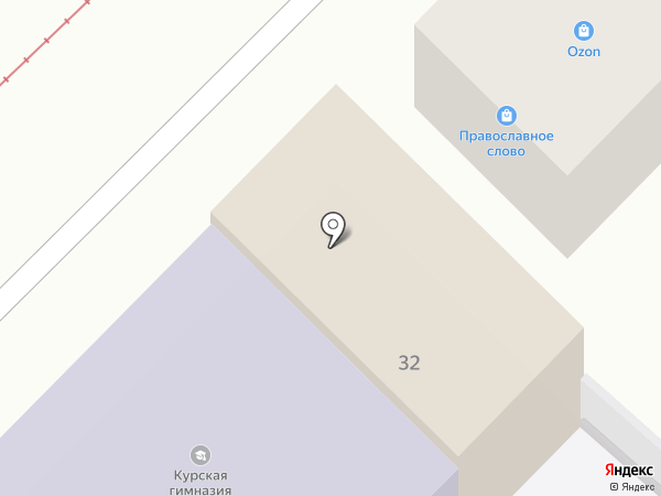 Начальная школа во имя Преподобного Феодосия Печерского на карте Курска