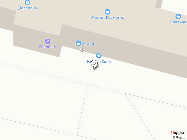 Магнит косметик на карте Калуги