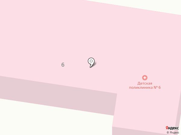 Детская поликлиника №6 на карте Курска