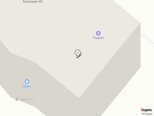 Радиан, ЗАО на карте Калуги