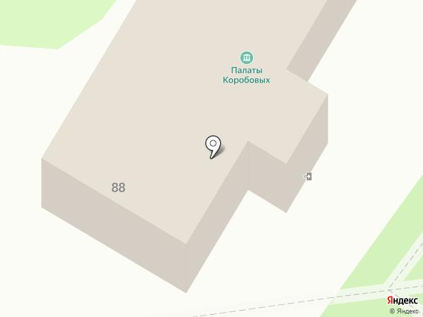 Палата Коробовых на карте Калуги
