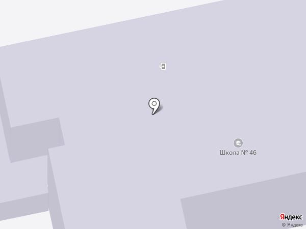 Средняя общеобразовательная школа №46 на карте Калуги
