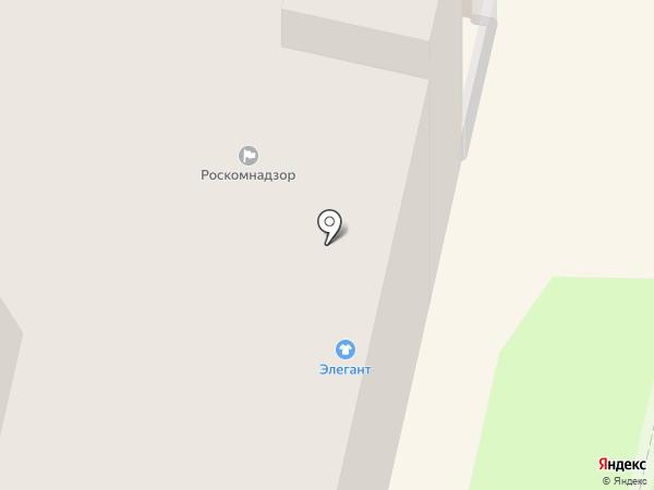 Элегант на карте Калуги