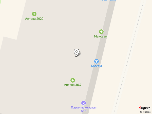 Максавит на карте Калуги