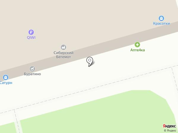 Умненький Буратино на карте Калуги