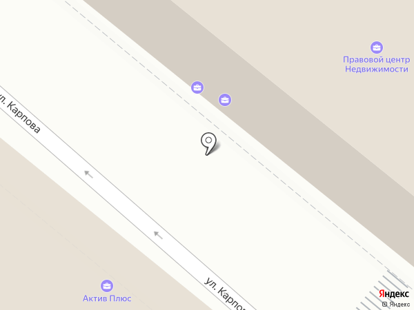 Адвокатский кабинет Гришина А.В. на карте Калуги