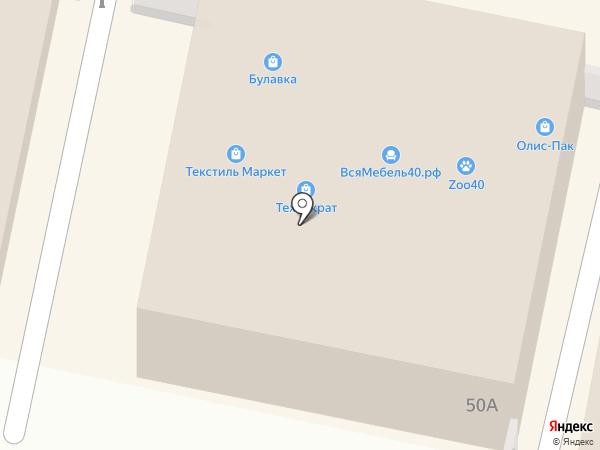 Олис-Пак на карте Калуги