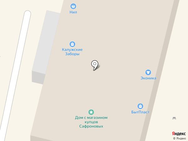 Люжанэ на карте Калуги