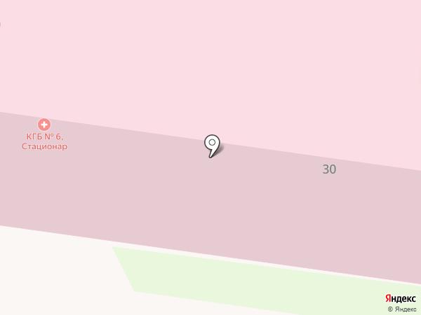 Курская городская больница №6 на карте Курска