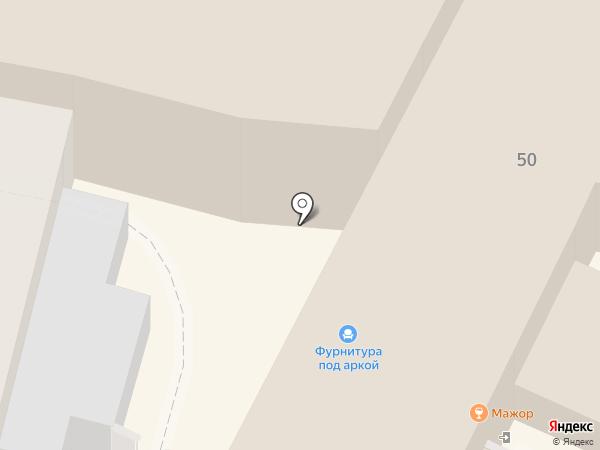 Фурнитура под аркой на карте Калуги
