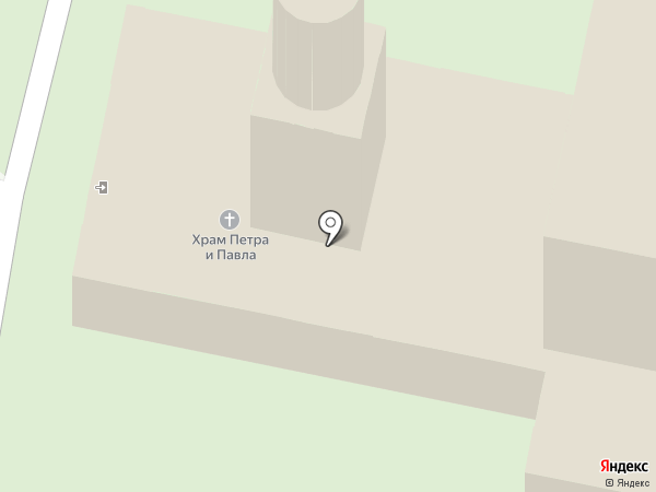 Храм святых апостолов Петра и Павла на карте Калуги