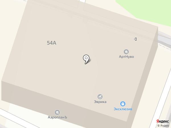 АртНуво на карте Калуги
