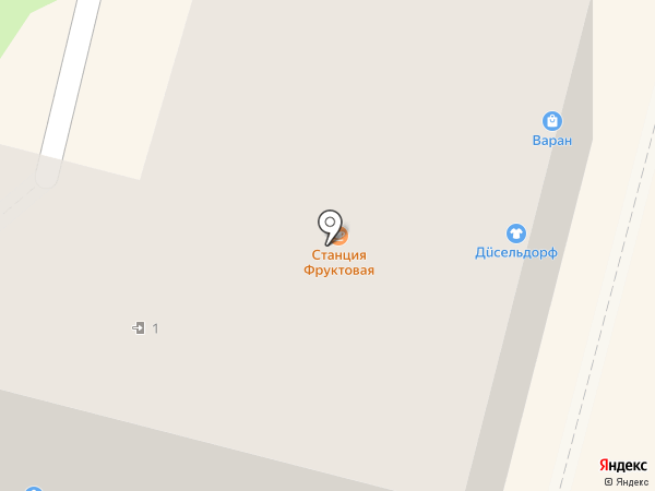 Варан на карте Калуги