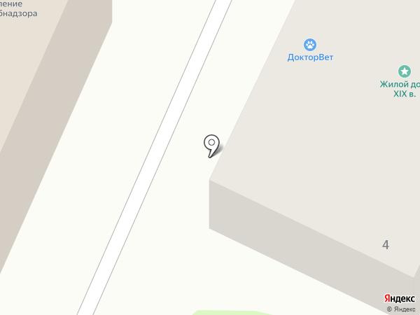 Чулок на карте Калуги