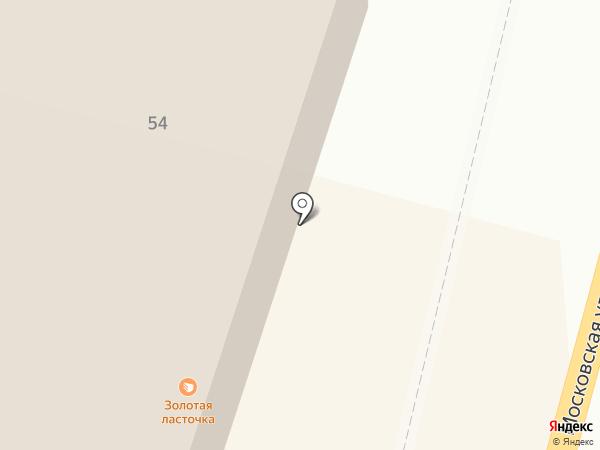 Ласточка на карте Калуги
