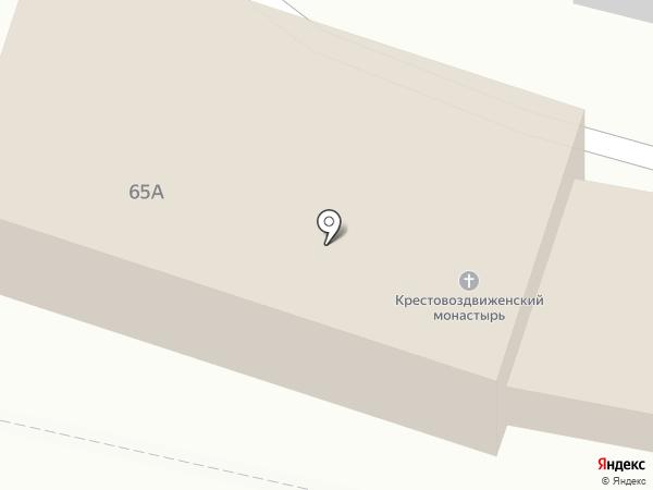 Крестовоздвиженский мужской монастырь на карте Калуги