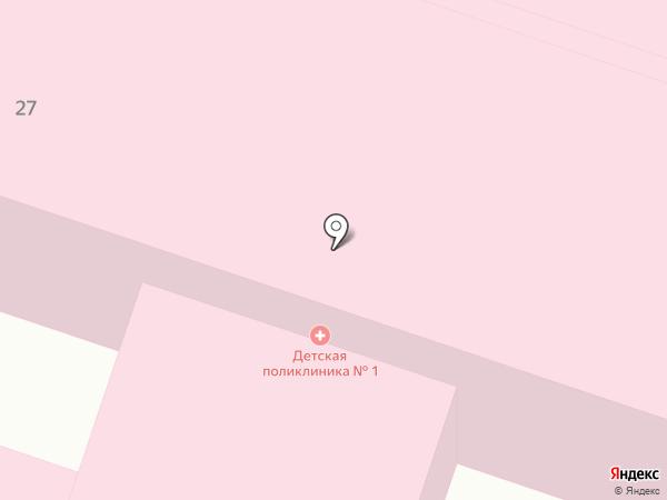 Детская городская поликлиника на карте Калуги