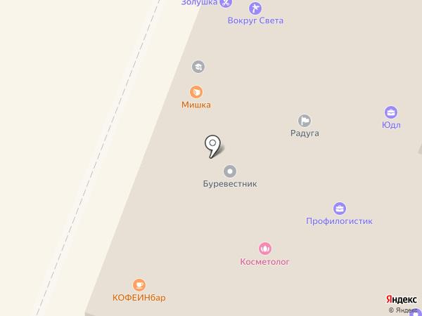 Мишка на карте Калуги