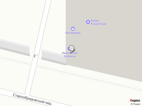 Каланча-Калуга на карте Калуги