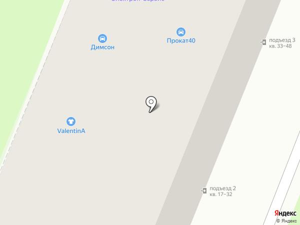 Валентина на карте Калуги