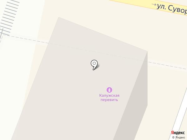 Сеть магазинов и киосков по продаже овощей и фруктов на карте Калуги