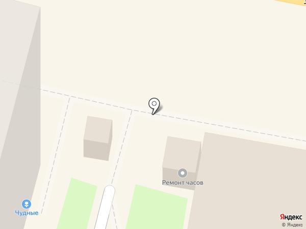Киоск по ремонту часов на карте Калуги