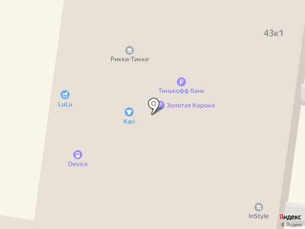 Ньютон на карте Калуги