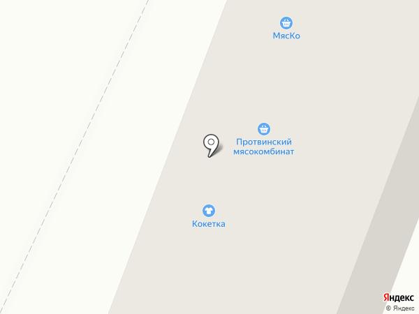 Кокетка на карте Калуги