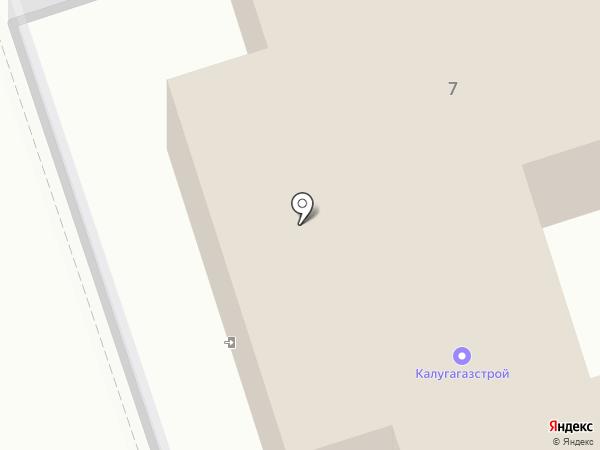 Калугагазстрой на карте Калуги