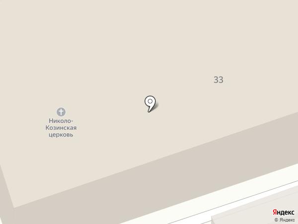 Храм в честь святителя Николая на карте Калуги