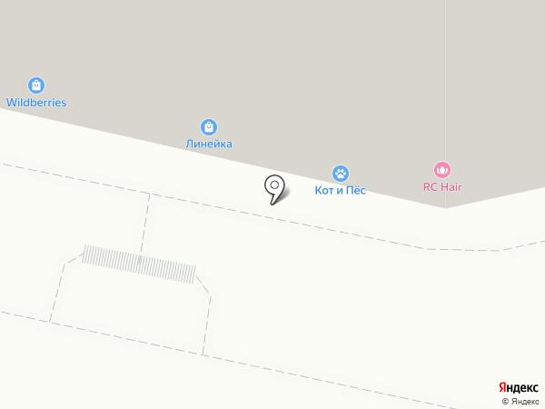 Линейка на карте Калуги