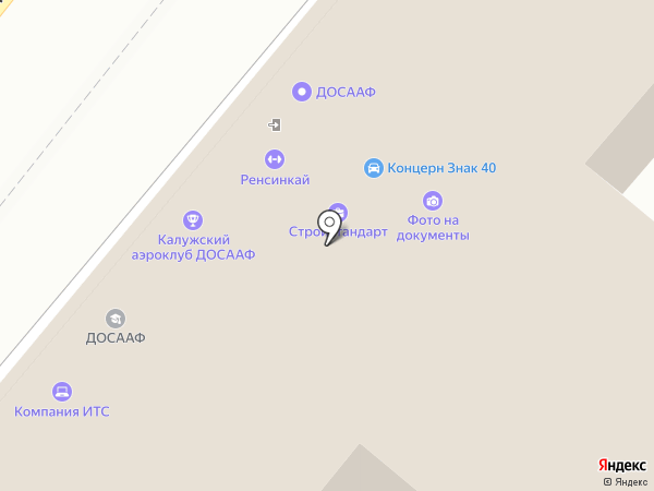 Калужская объединенная техническая школа на карте Калуги