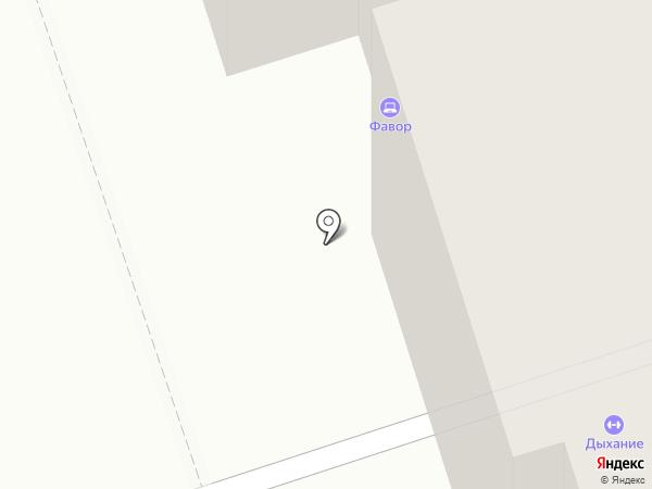 Фавор на карте Калуги