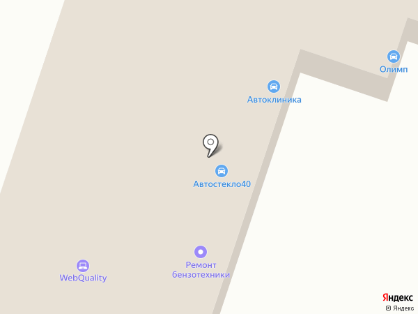 Авангард на карте Калуги
