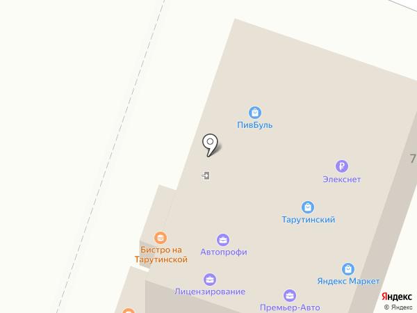 Тарутинский на карте Калуги