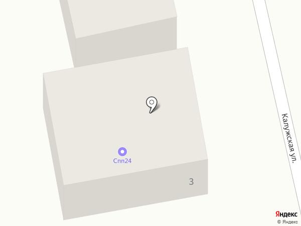 Цветочная станция на карте Калуги