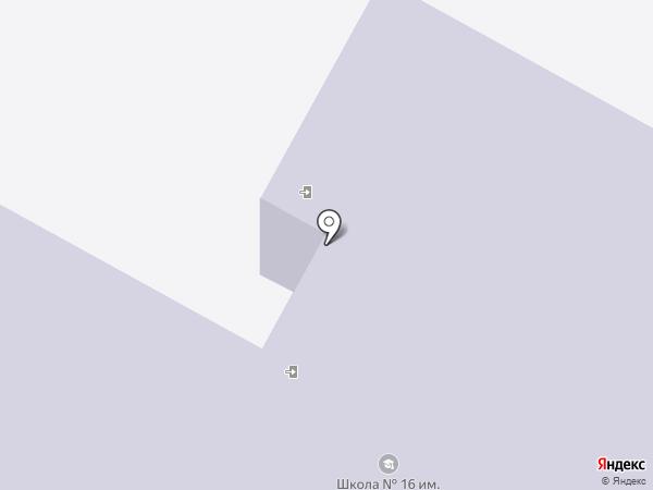 Средняя общеобразовательная школа №16 на карте Калуги