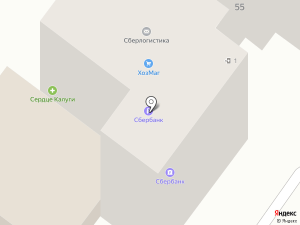 Ключ здоровья на карте Калуги