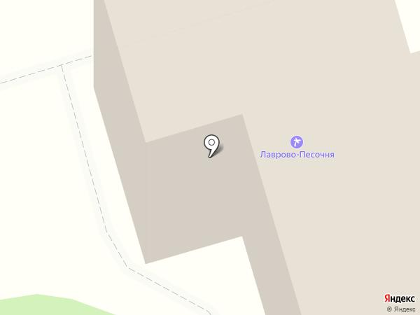 Лаврово-Песочня на карте Калуги