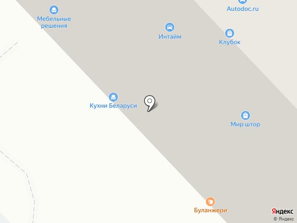 Клубок на карте Белгорода